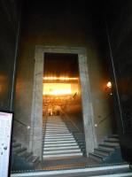 The entrance stairs